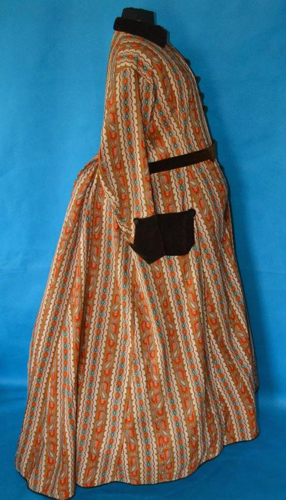 All The Pretty Dresses: 1860s Civil War era dress. Wrap/Maternity Dress.