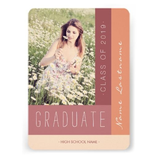 Customize this Stylish #Graduation Party Photo Invite #Modern Summer