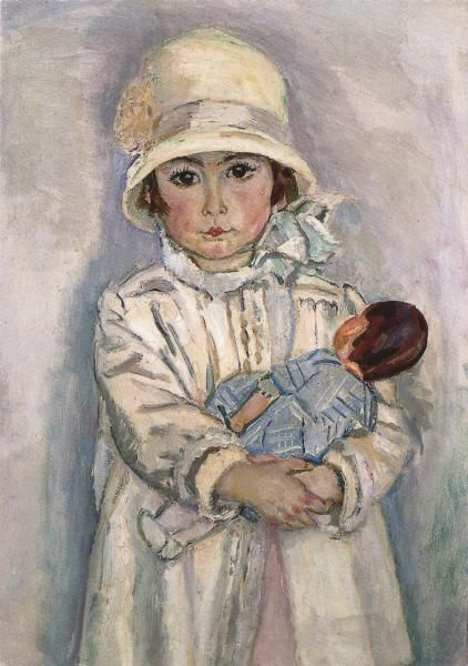 Little girl and her doll by Jan Sluyters about 1928