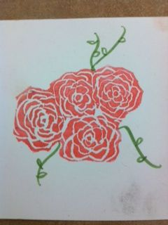 Flower stamp carved with the Undefined Carving Kit