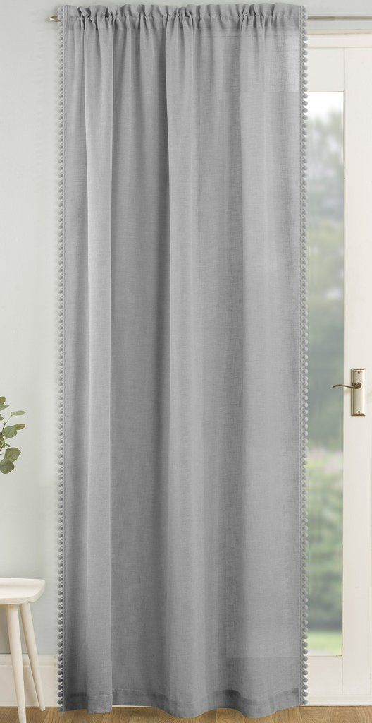 Tahiti Pom Pom Voile Curtain Panels Grey Ideal Textiles In 2020 Voile Curtains Panel Curtains Curtains