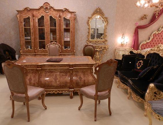 radica di pioppo. #arredamento #classico #furniture #mobili #fiera ... - Arredamento Classico Milano