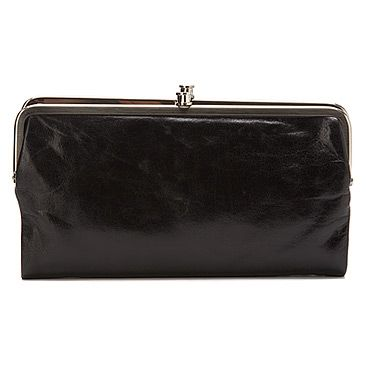 Hobo Lauren Clutch Black Leather
