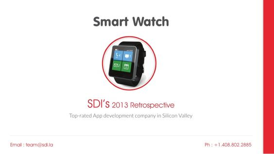 #Smartwatch by Software Developers Inc via slideshare