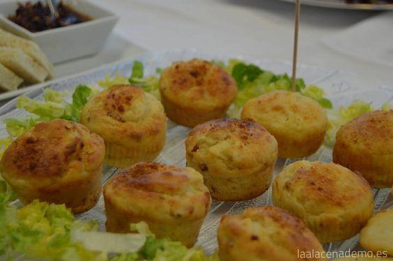 Receta salada de muffins de queso de cabra, muy fácil y rápida de preparar. Ideal para el aperitivo o una cena cóctel con amigos.