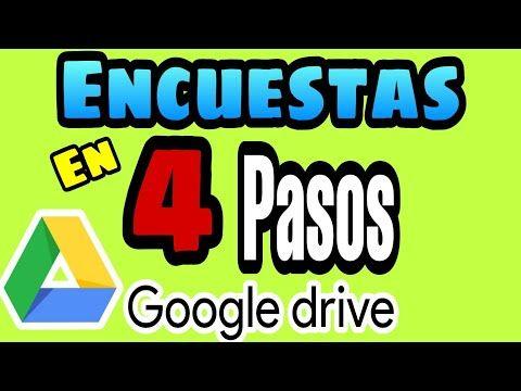 Cómo Hacer Una Encuesta En 4 Pasos Google Drive 2020 Fácil Cómo Crear Formularios De Google Youtube En 2020 Como Hacer Una Encuesta Google Drive Google
