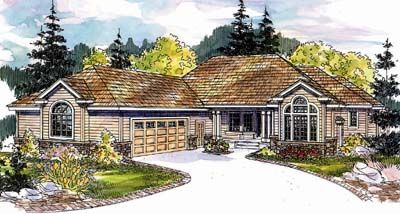 Ranch Style House Plans - 3026 Square Foot Home , 1 Story, 3 Bedroom and 3 Bath, 2 Garage Stalls by Monster House Plans - Plan 17-584