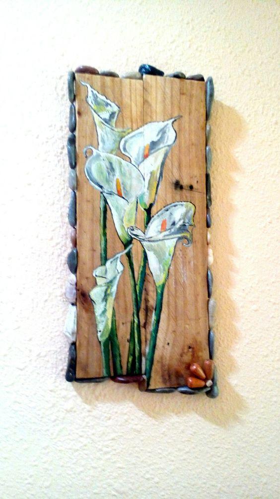Pintar en madera de palet.