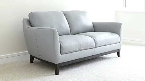 Artikle Leather Two Seater Sofa Grey Leather Couch Light Grey Leather Couch Leather Sofas Uk