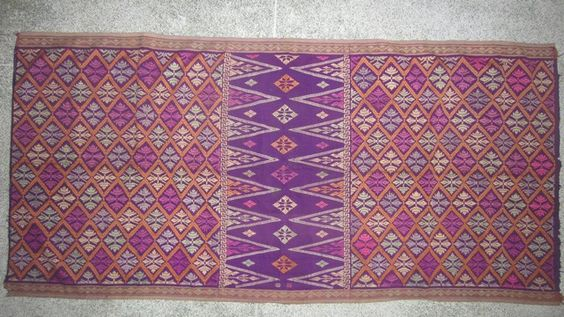 Vintage Balinese textile:   supplementary weft saput.   www.kulukgallery.com