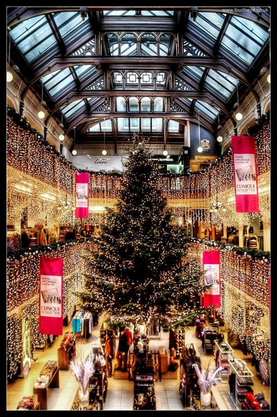 Edinburgh Spotlight's picture of the Christmas Tree in Jenners Department store 2012 - visit the indoor Christmas Tree in Jenners. #EdinHour winter warmer ideas.