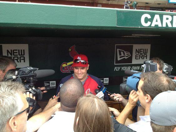 Twitter / Cardinals: Berkman's Back Baby!!