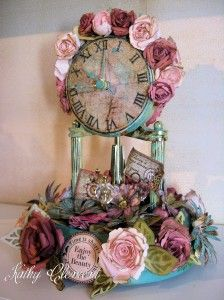 Heartfelt Creations Altered Clock 003a