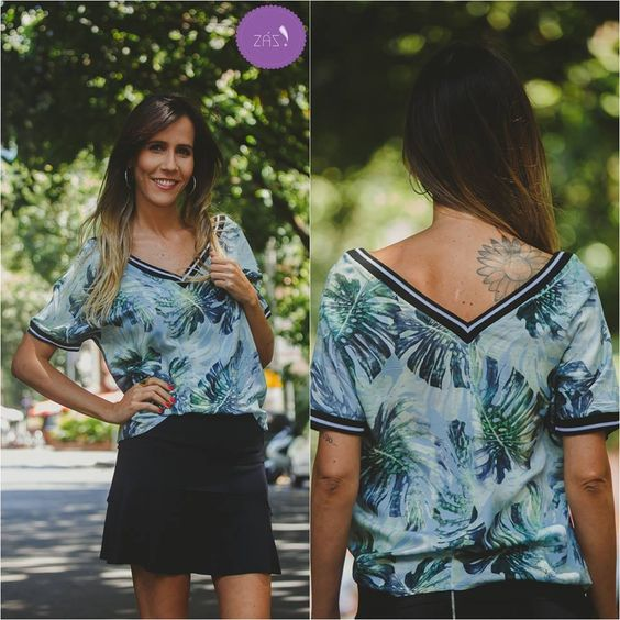 Charmosa demais essa blusa com decote V #Vemprazas