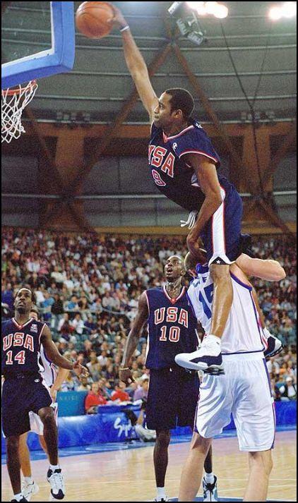2000 Olympics Vince Carter gravity defying slam dunk