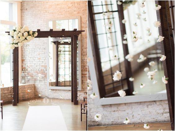 Wedding decor  |  Wedding ceremony  |  Floral ceremony decorations  |  Wedding decoration ideas  |  Modern weddings  |  Aislinn Kate Photography