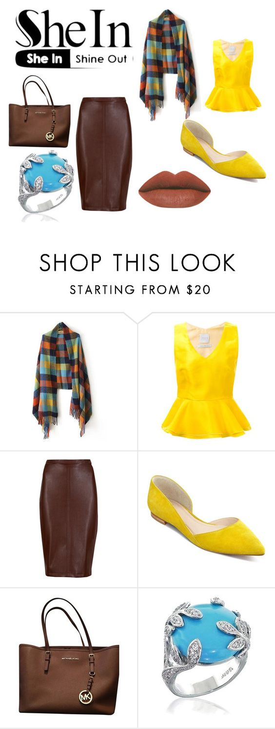"""""""Shein Multicolored Tassel Scarf"""" by lil-mee-kenzi ❤ liked on Polyvore featuring Ingie Paris, M&S Collection, Marc Fisher LTD, Michael Kors, Bling Jewelry, women's clothing, women's fashion, women, female and woman"""
