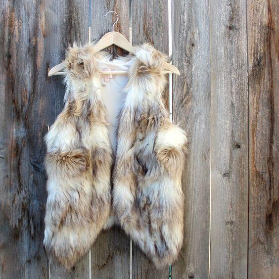wild child faux fur vest