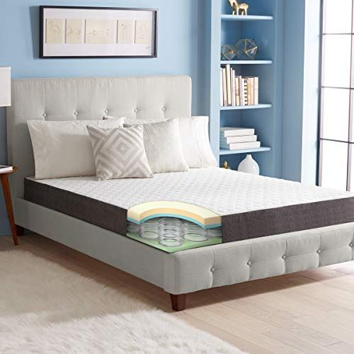 Sharper Image 10 Inch Memory Foam Innerspring Mattress Combination Hybrid Design With Springs A Twin Mattress Size Queen Mattress Size Innerspring Mattresses
