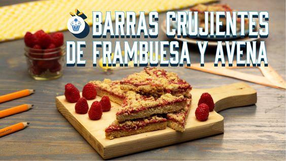 ¿Cómo preparar Barras Crujientes de Frambuesa y Avena? - Cocina Fresca