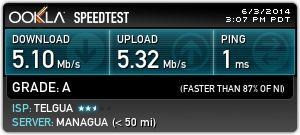 Revisar mis resultados de Ookla Speedtest.