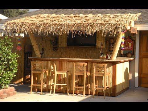 Youtube Outdoor Tiki Bar Diy Outdoor Bar Outdoor Bar Stools