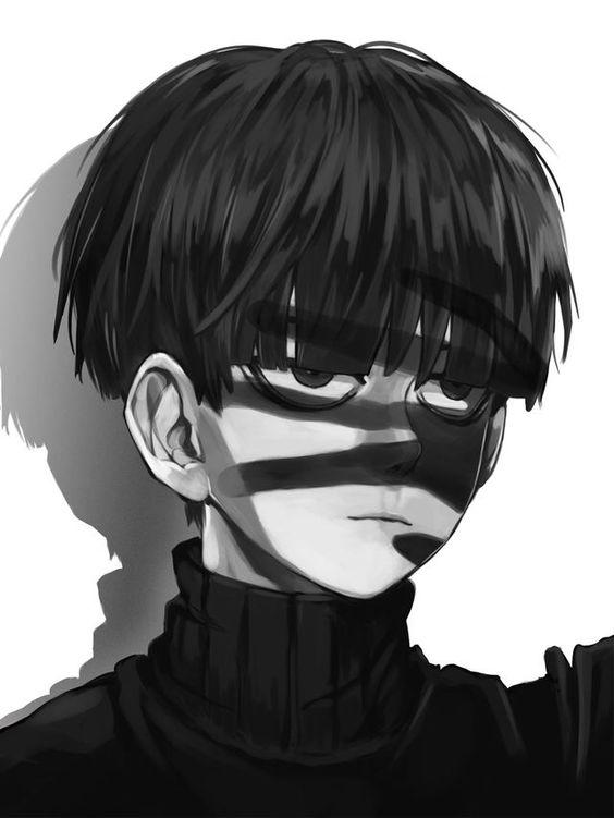白黒2色で描かれる影山茂夫