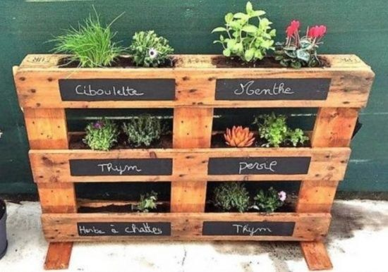 Unique Ideas Of A Diy Pallet Planter Lovely Pallet Garden