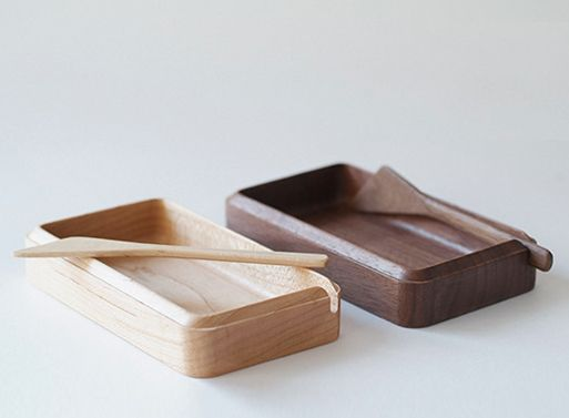 45° Butter Case by Masanori Oji – $84.82    Wooden. Japanese. Mindblowing. Go get it!