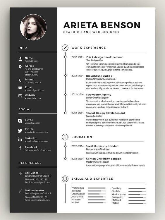 Clean Cv Resume Desain Cv Cv Kreatif Desain Resume