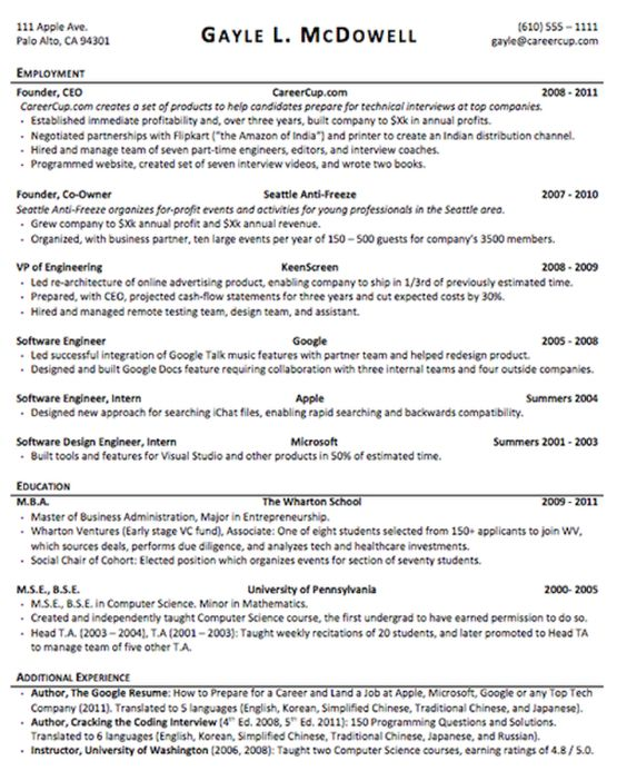 The anatomy of the perfect resume Resume, Perfect resume and The - author resume
