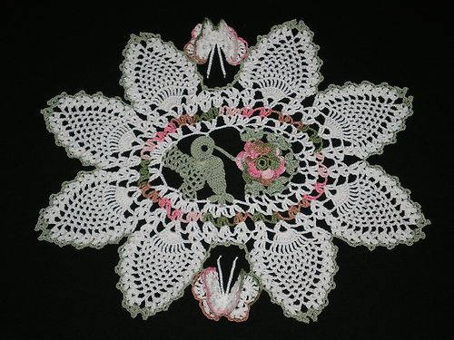 Hummingbirds, Crochet and Doilies on Pinterest