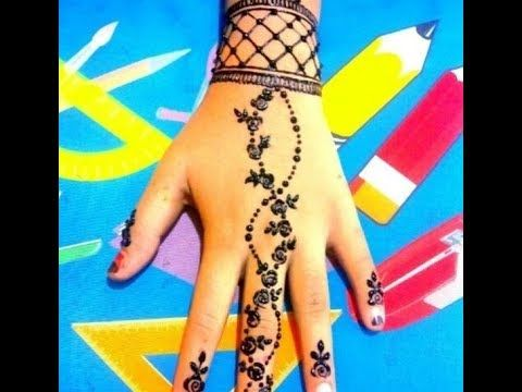 نقش حناء جديد بسيط و متوسط الطول تألقي مع اجمل نقش حناء في كل مناسبة Mehndi Designs Henna Hand Tattoo Hand Henna