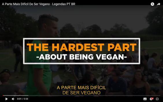"""A Parte Mais Difícil De Ser Vegano - Legendas PT BR""""A verdadeira dificuldade em ser vegano não envolve comida. A parte mais difícil de ser vegano é dar de cara com um lado mais sombrio da humanidade e tentar permanecer esperançoso."""""""