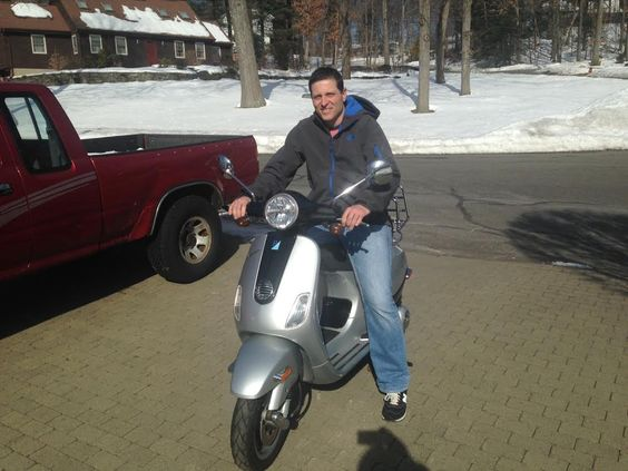 Craig L from Bristol scored a sweet deal on this Certified Pre-owned 2009 Vespa LX150! We can't wait to see him riding around town on this beauty! Cheers!   #Vespa #VespaHartford #Scooter #ScooterCentrale #Smile