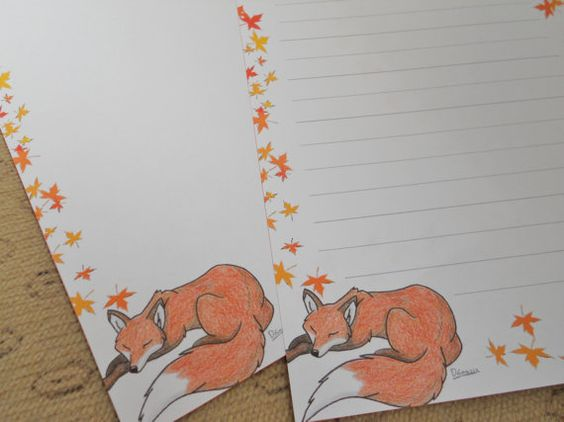 Autumn fall themed primary writing paper pack pinterest