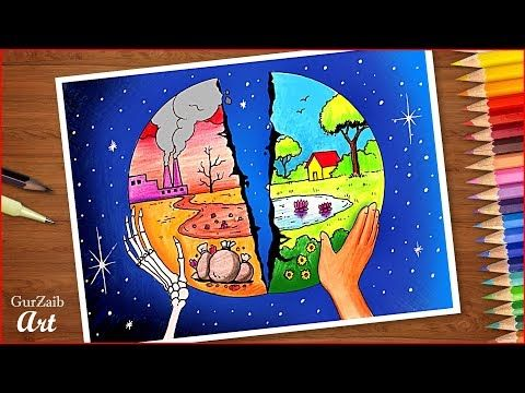 Save Environment Save Earth Poster Chart Drawing For School Students Very Easy Step By Step Youtube Save Earth Drawing Earth Day Drawing Earth Drawings