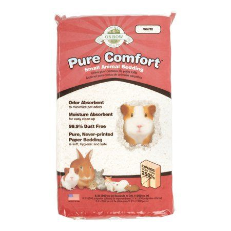 Oxbow Pure Comfort Small Animal Bedding 21 L White Pure Products Pet Beds Pet Odors