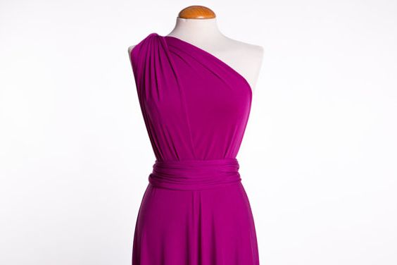 Bridesmaid Orchid Dress Knee length-Convertible Radiant Orchid dress- Versatile Dress Knee Length - Sleeveless Blue short Dress - Party knee  The