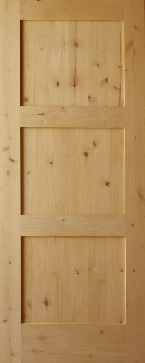 Knotty Alder Craftsman 3 Panel Horizontal 1 3 4 Thick Exterior Door Knotty Alder Doors Pine Interior Doors Rustic Doors