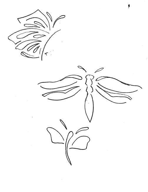 Butterfly Stencil by ArtfulM on Etsy