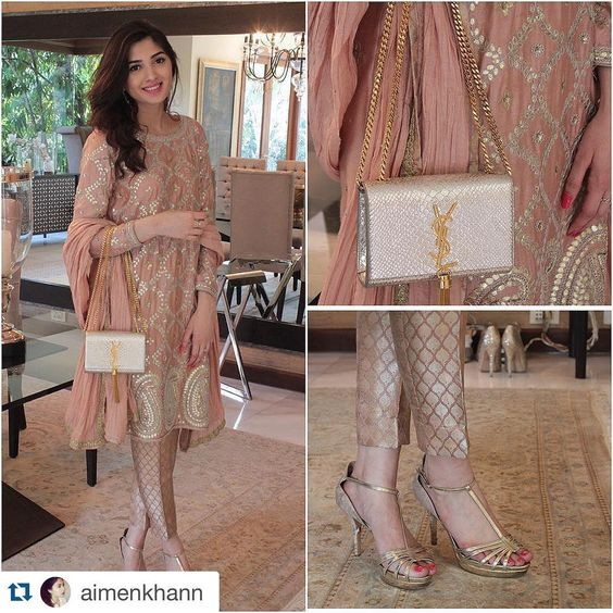"""""""We love the look! #Repost @aimenkhann with @repostapp. ・・・ Wearing @mehreenhumayunofficial styled by @imanmazhar8 for details, go to aimenkhan.com…"""""""