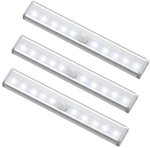 Motion Sensor Closet Lights Battery Operated 10 Led Closet Light Wireless Under Cabinet Light With Magnetic Security Closet Light Stick Up Motion Sensor Night In 2020 Motion Sensor Closet Light