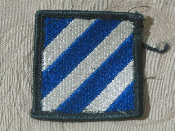 "MILITARY SHOULDER PATCH 3rd ( Third ) Infantry Division ""We Shall Remain There""  Junk_597  http://ajunkeeshoppe.blogspot.com/"