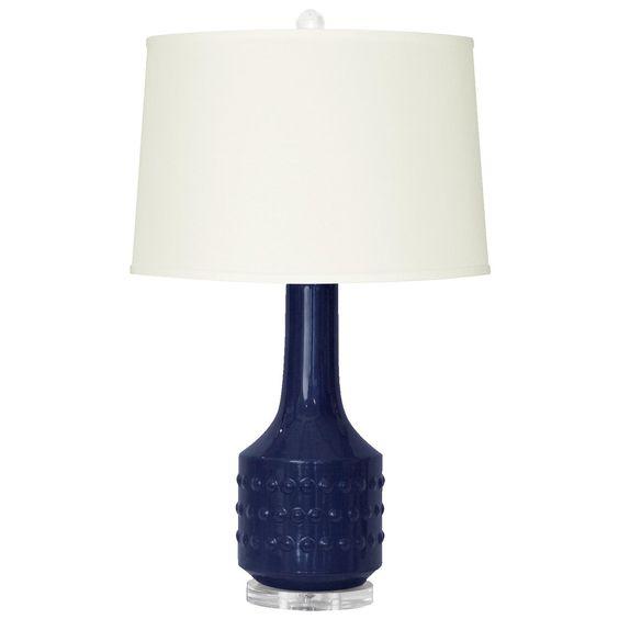 bungalow 5 mariah lamp dark blue ceramics dark blue and acrylics. Black Bedroom Furniture Sets. Home Design Ideas