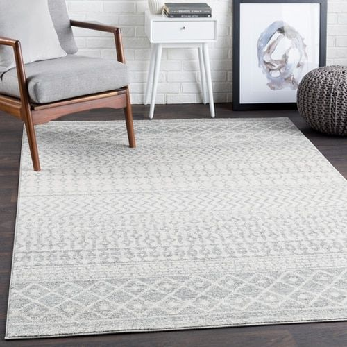 Elaziz Elz 2308 Area Rug With Colors Light Gray Medium Gray