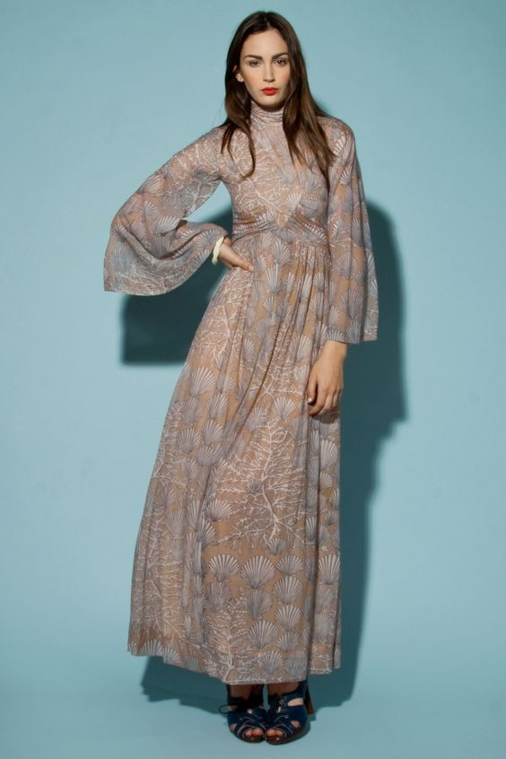 Shop Vintage  70s Robert David Morton Maxi Dress  Thrifted ...