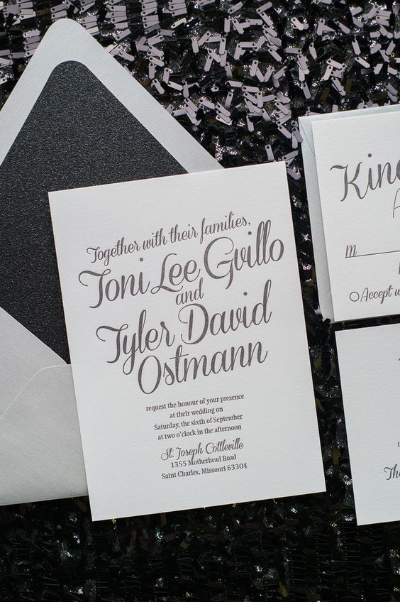 Cocktails Wedding And Silver Wedding Invitations On Pinterest