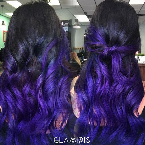Exquisite Purple Color Melt by Iris Smith! Ombre Balayage Hair Painting Mermaid Hair fb.