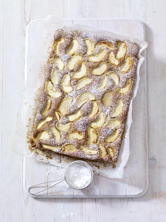 Spiced Dorset Apple Traybake - The Happy Foodie